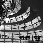 Reichstag's dome b&w
